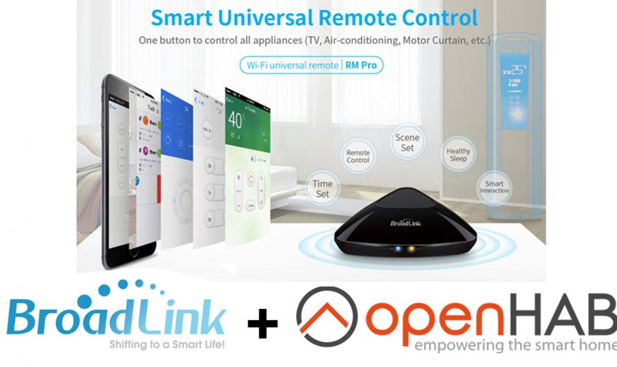 Broadlink RM Pro Test & OpenHAB 2 installation